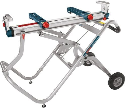2 BOSCH Portable Gravity-Rise Wheeled Miter Saw Stand